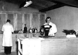Chemical laboratory, mineral water factory Kilmessan December 1949