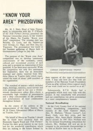 Know your area - ESB Internal Publication Prospect August 1969