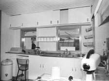 RDS model home, kitchen, 7 May 1960
