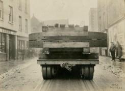Truck bringing material from Gernany December 1928