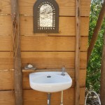 outdoor sink and toilet
