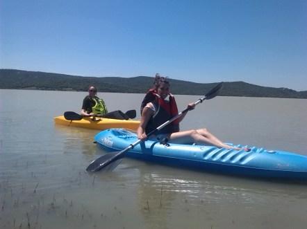 kayak en El Celemín