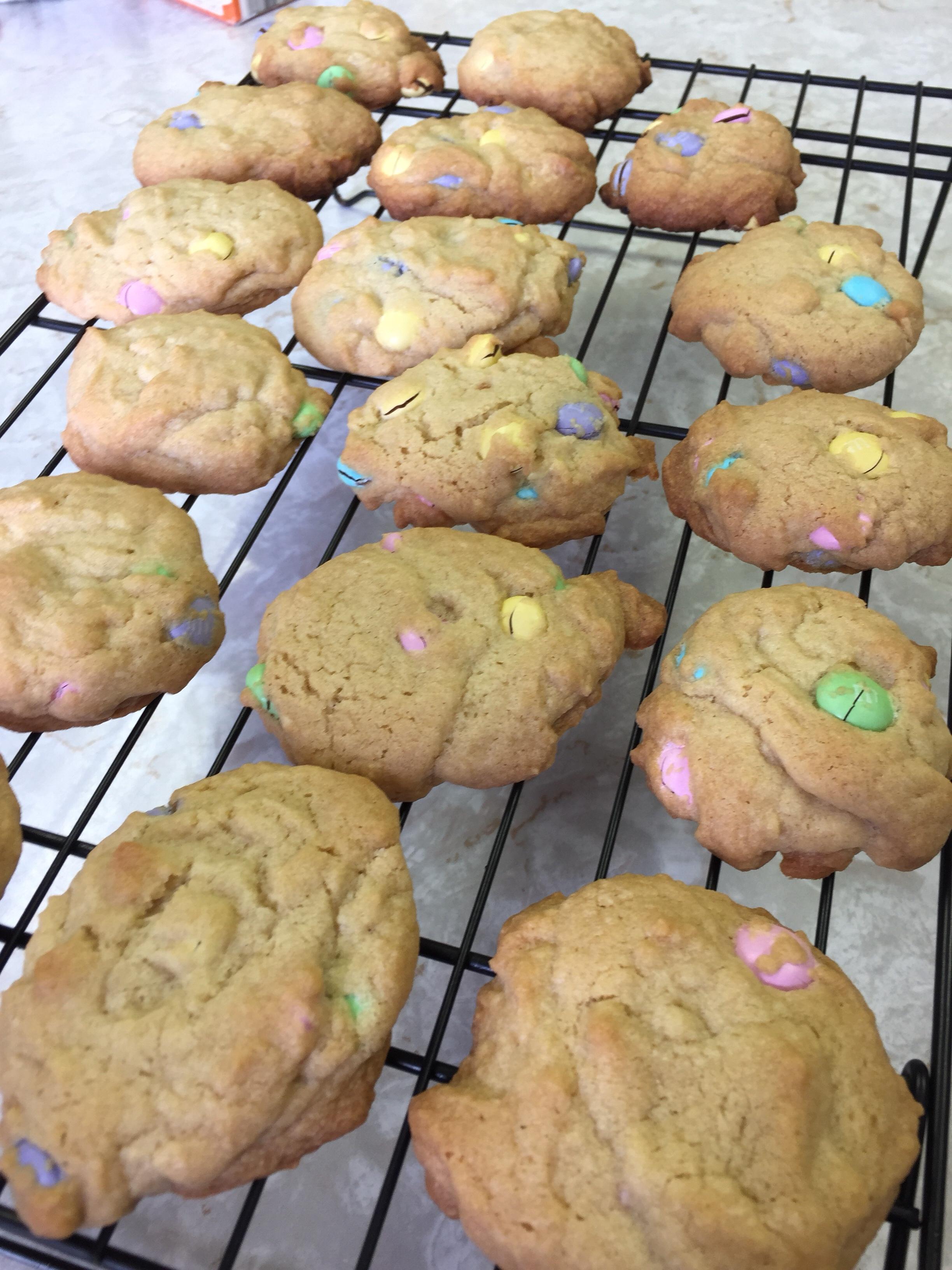 M&M Fraction Cookies