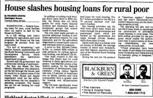 House slashes housing loans for rural poor