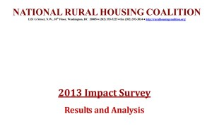 2013 NRHC Impact Survey Report