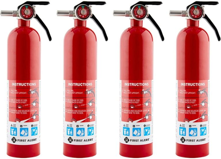 First Alert – HOME1 Rechargeable Fire Extinguisher 4-Pack