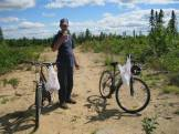 Biking with Florian