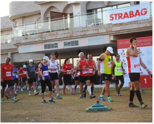 10K runners waiting for the start