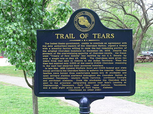 512px-Cherokee_Heritage_Center_-_Trail_of_Tears_Schild_1