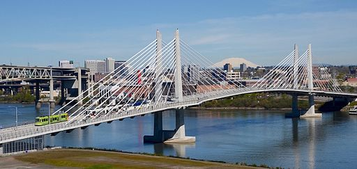 Tilikum_Crossing_with_streetcar_and_MAX_train_in_2016