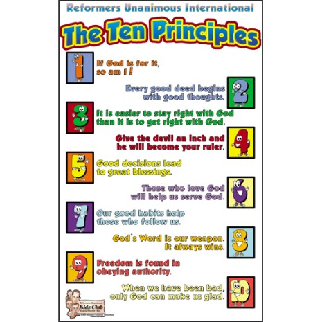 Kidz Club Ten Principles Poster