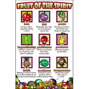 Kidz Club Fruit of the Spirit Poster