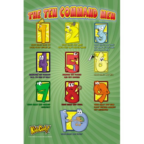 Kidz Club 10 Commandments Poster