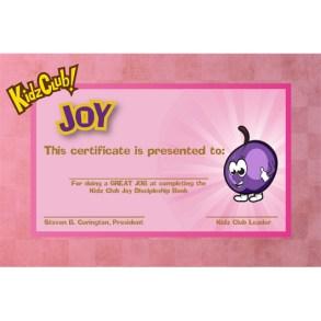 Kidz Joy Certificate