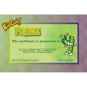 Kidz Peace Certificate