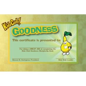 Kidz Goodness Certificate