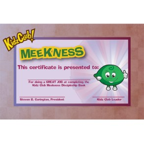 Kidz Meekness Certificate