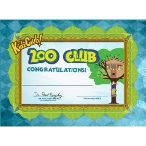 Kidz Club 200 Club Certificate