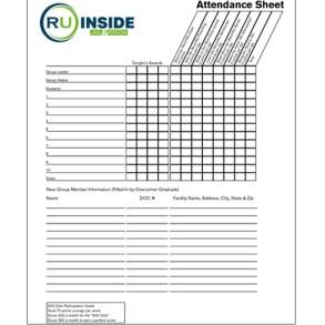 RU Inside Attendance Sheet