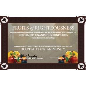 Threshold Certificate: Hospitality