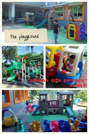 semua mainan playgroundnya 'modern style'