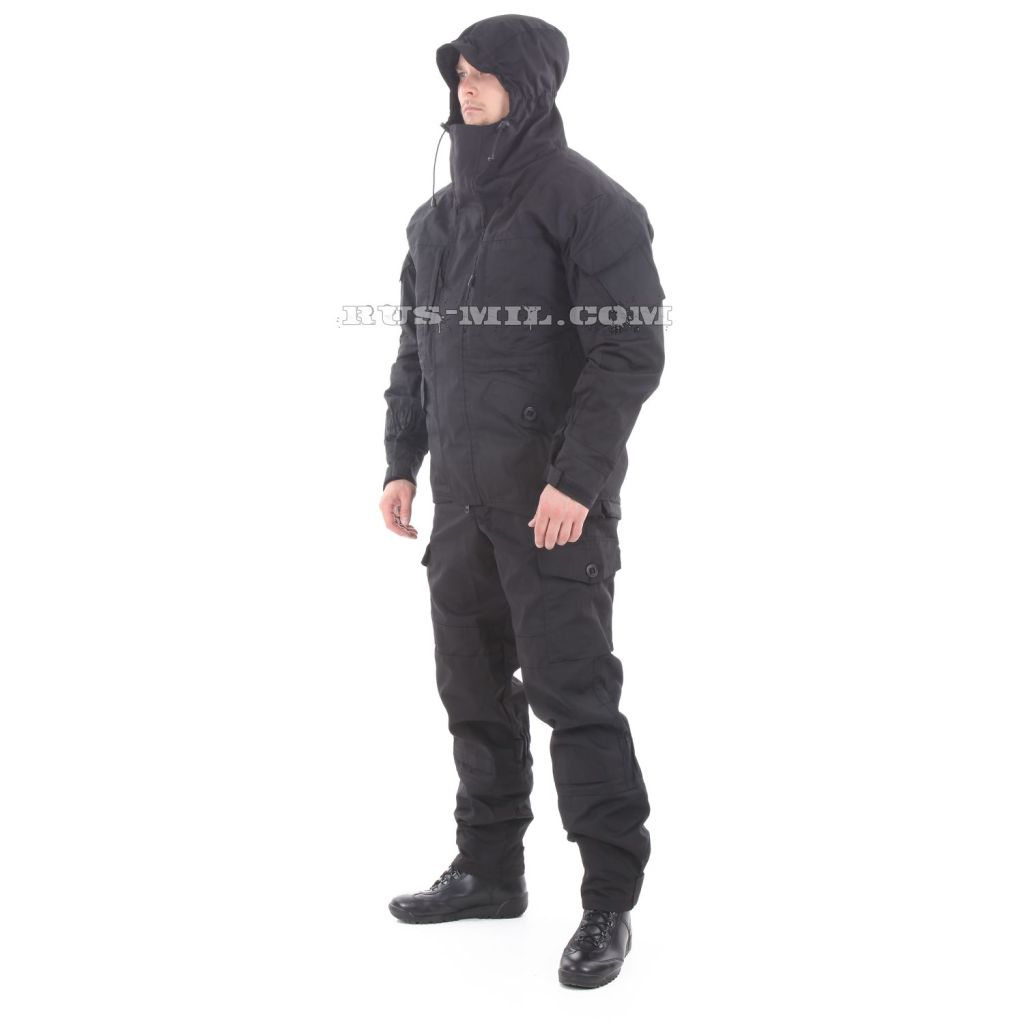 Gorka-5 suit in black with fleece removable lining