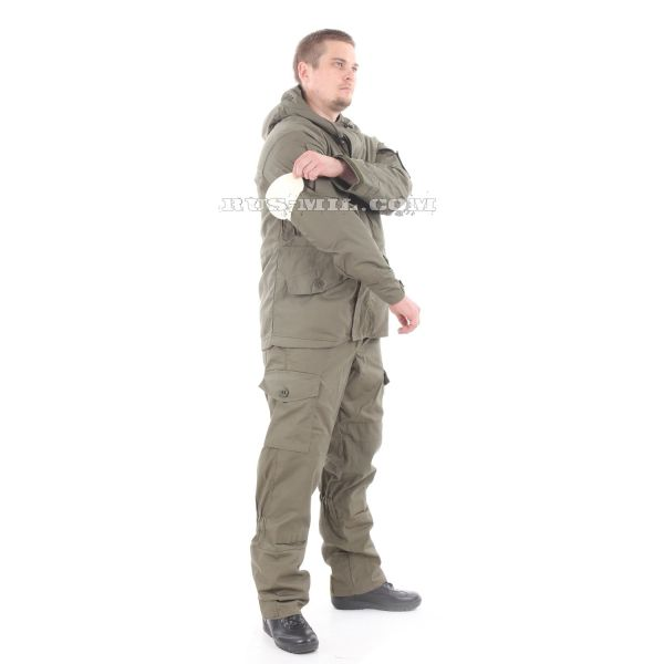 Russian Gorka-5 suit in Olive with fleece removable lining