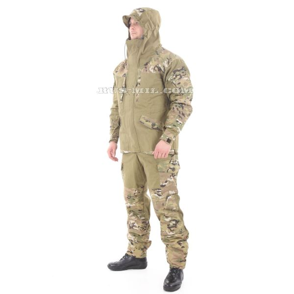 Gorka-5 suit khaki with fleece removable lining, multicam