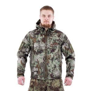 Jacket from the membrane Softshell color Mandrake
