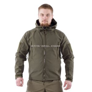 Jacket from the membrane Softshell color Olive Dark for sale