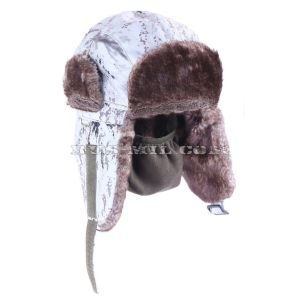 Russian winter hat with flaps at a low price