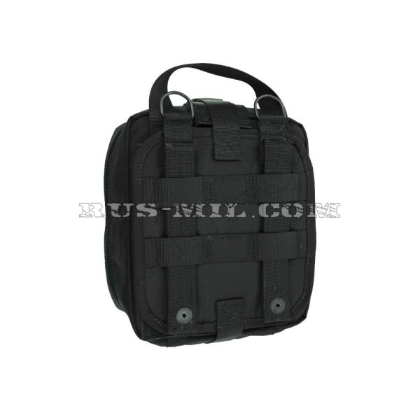 First-aid molle big pouch black back
