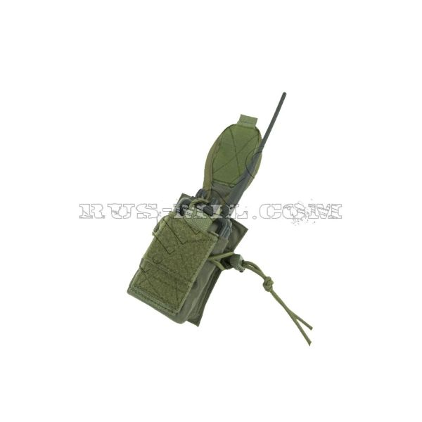 PRS 3 molle radio pouch olive open