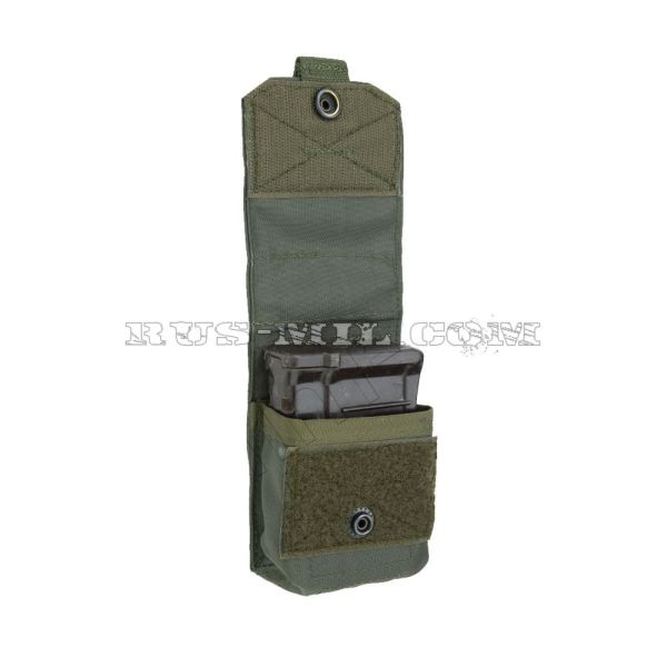 VSS 1 molle silent pouch for 1 mag olive open
