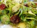 Салат из брюссельской капусты с апельсиновым соусом