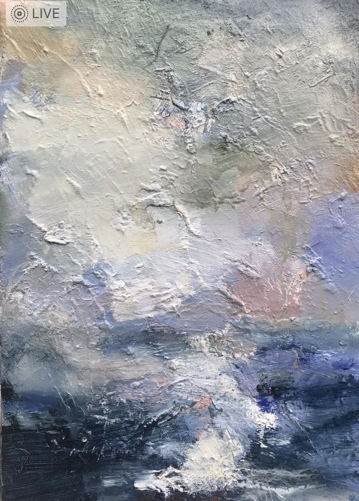 Art contemporain, sensualisme, peinture huile, Ciel orageux, Oil Painting, Contemporary painting, #contemporaryart