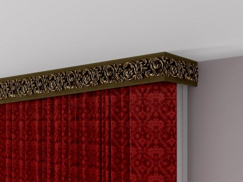 corniche et accrocher des rideaux