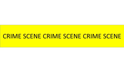 yellow and black crime scene tape
