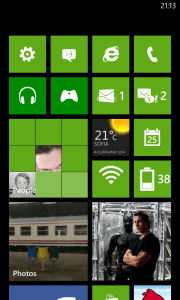Nokia Lumia 520 Home Screen