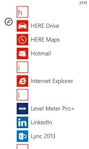 Nokia Lumia 520 Applications