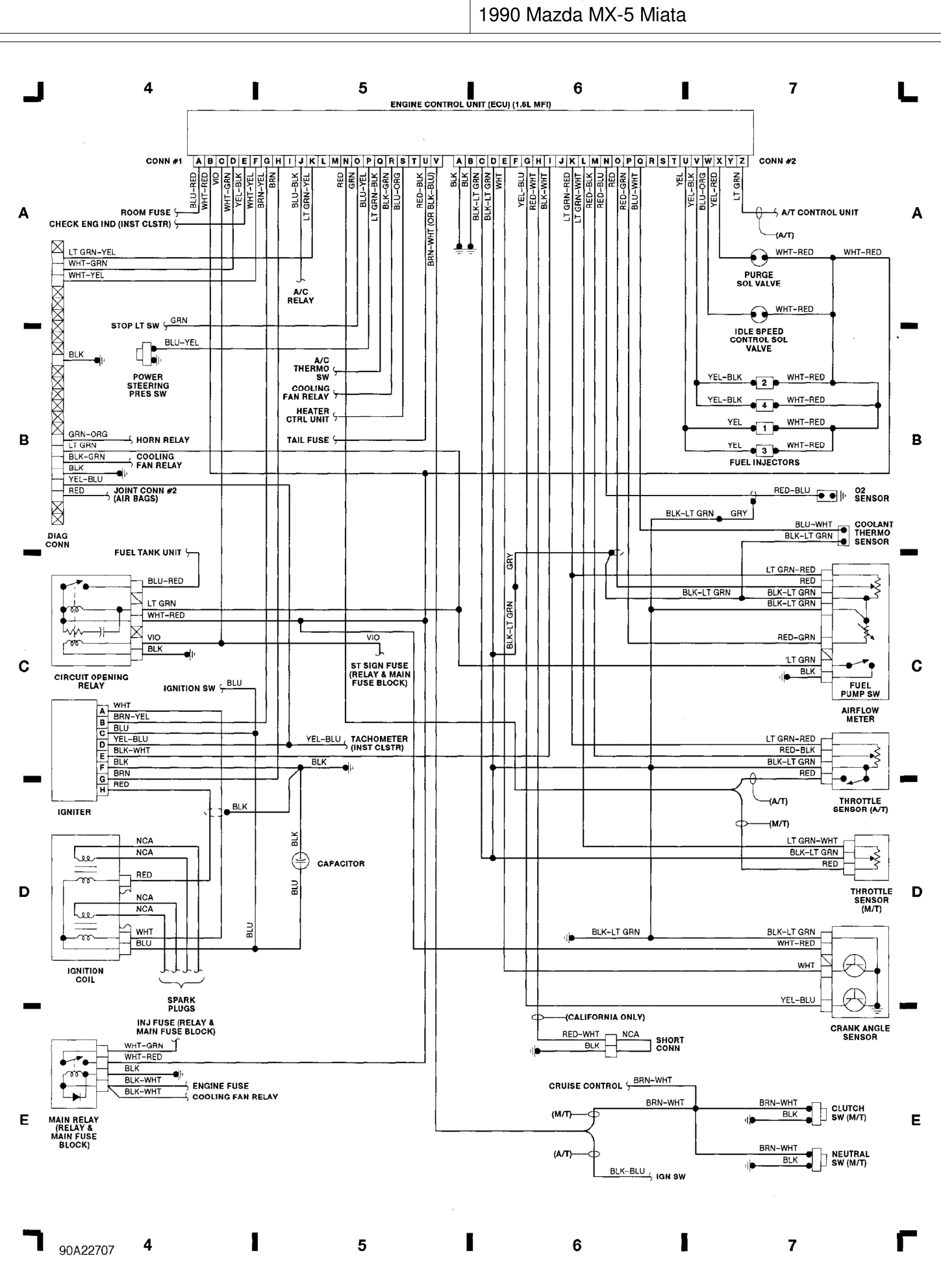 1990 Miata Engine Diagram. Diagrams. Auto Parts Catalog