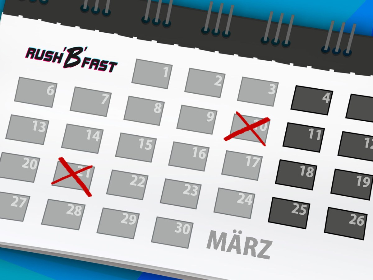 rushBfast - Kalender - März