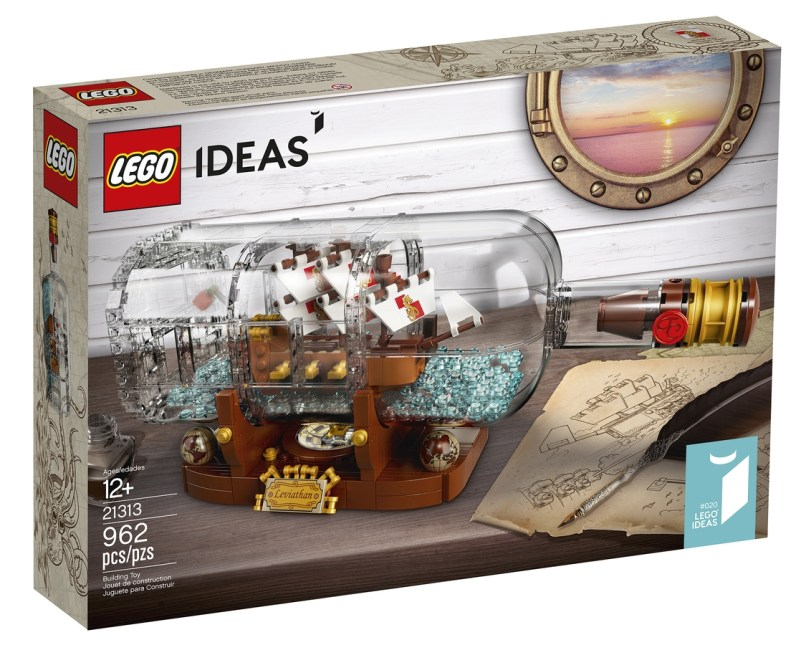 LEGO IDEAS - Schiff in der Flasche - Verpackung Vorderseite