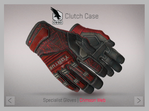 Specialist Gloves | Crimson Web