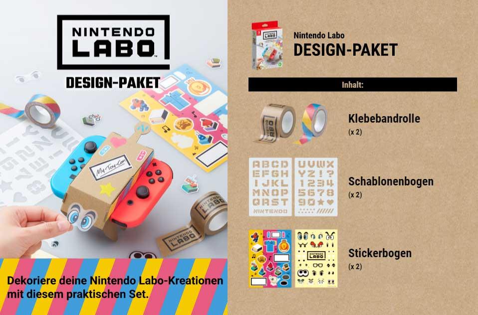 Nintendo Labo Design-Paket Inhalt