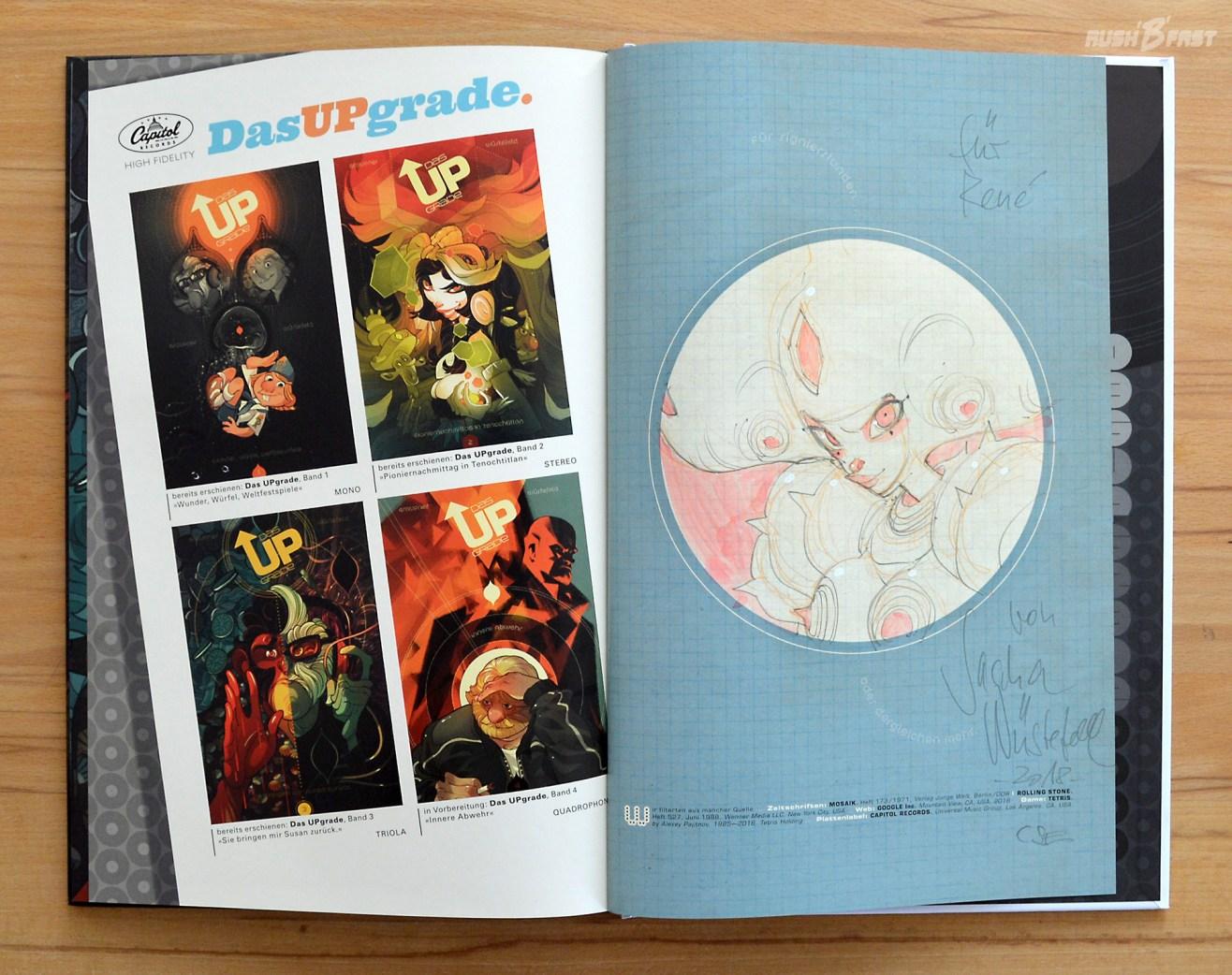 Comic Das Upgrade, Charakter Frau Bellmann, gezeichnet und signiert von Sascha Wüstefeld