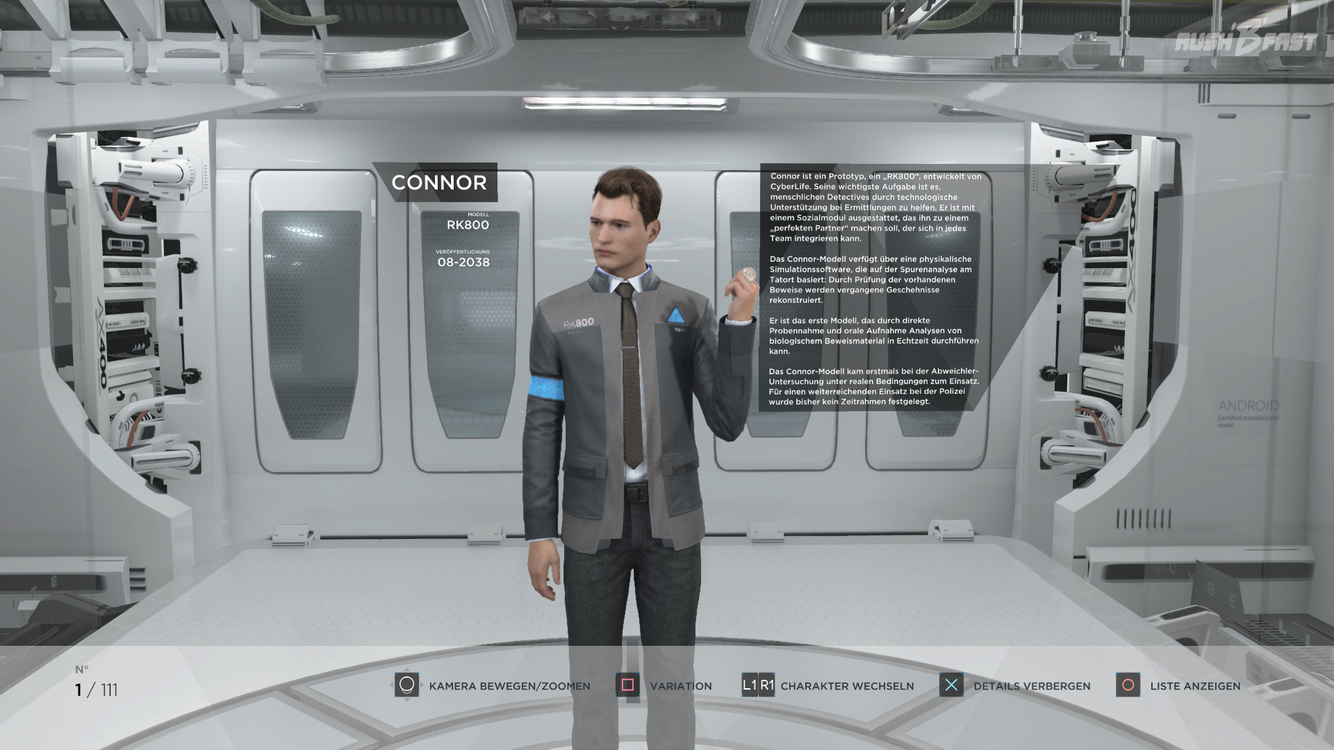Detroit: Become Human - Connor - Modell: RK800