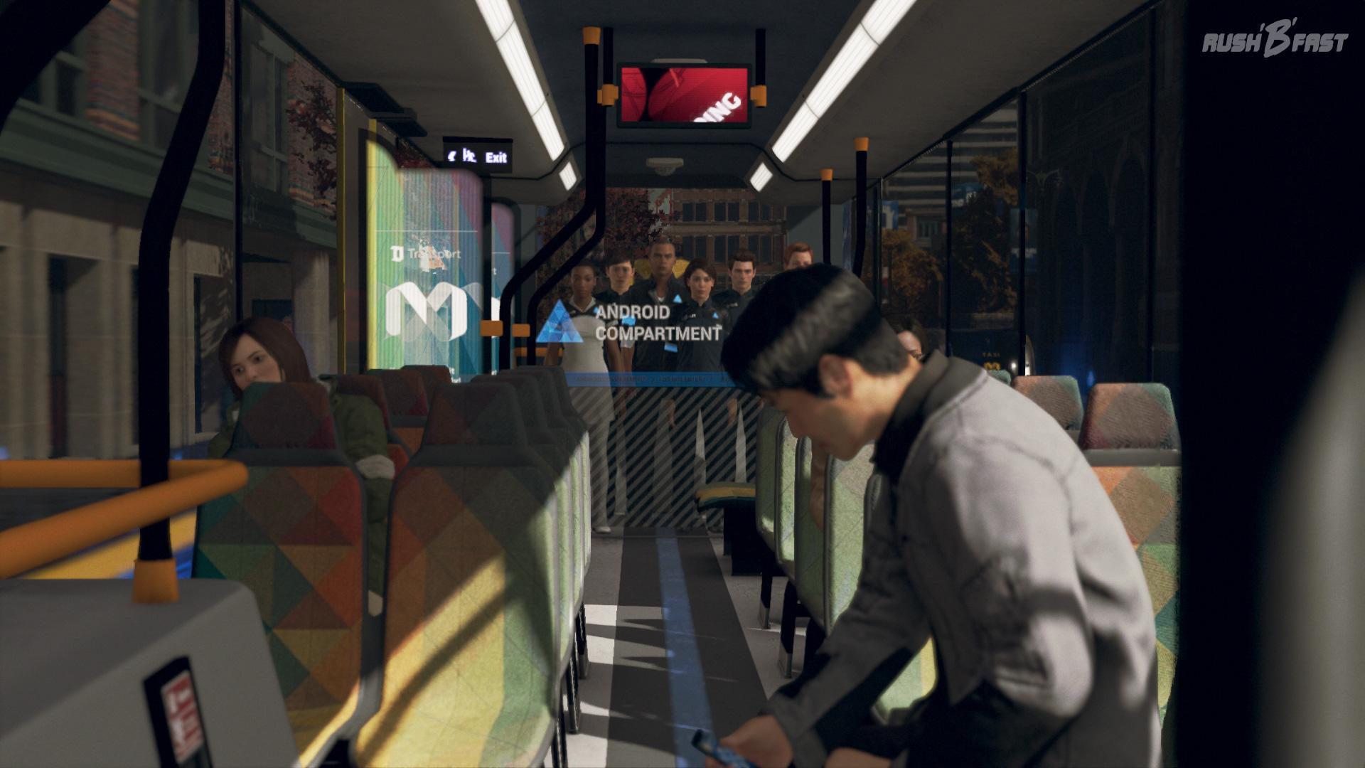 Detroit: Become Human - Androiden müssen im Bus klar von den Menschen getrennt werden.