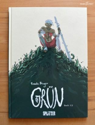 Comic Grün, Charakter Lis, gezeichnet und signiert von Frauke Berger