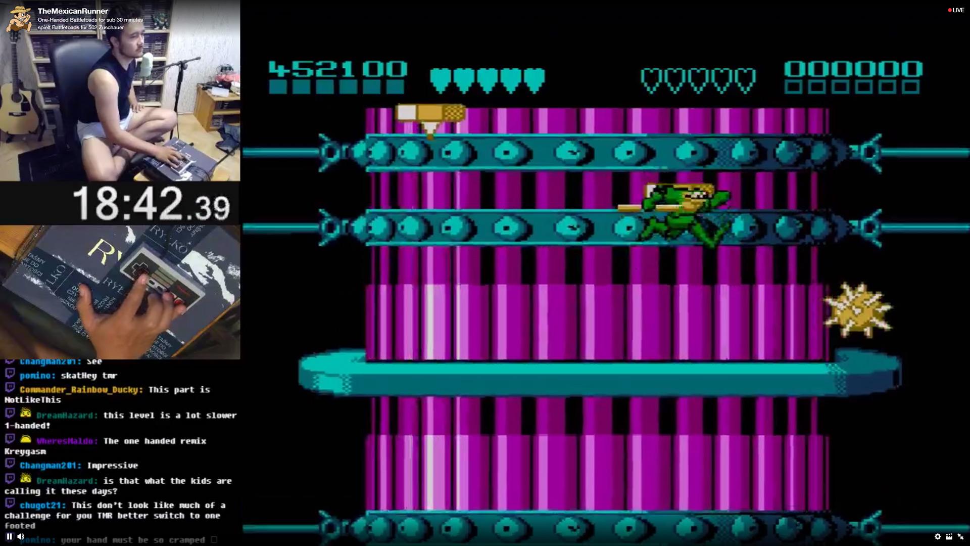 Quelle: Twitch/The Mexican Runner - Battletoads (NES) einhändig